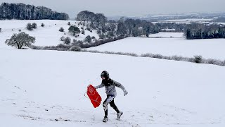 video: Storm Darcy:Snow day as schools tell pupils remote learning is cancelled in favour of sledging