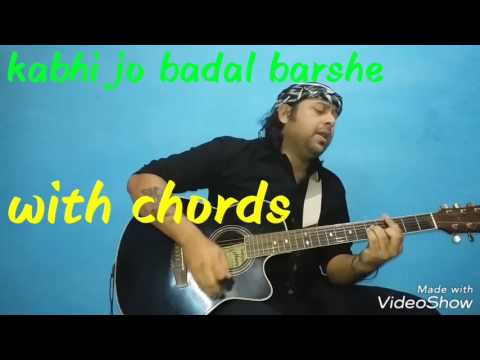 How to sing  esay Kabhi jo badal barshe with chords & stroke | easy to play