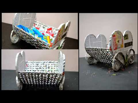 Newspaper Diy : Best Out Of Waste Newspaper | Table Center Piece Made By Newspaper