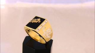 elvis presley tcb signature ring