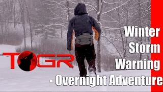 winter storm warning overnight adventure
