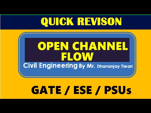 Open Channel Flow-OCF Quick Revision Lecture video by Eii