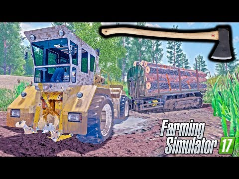 Logging with Axe in Muddy Forest - Farming Simulator 2017 | FS 2017 Mods LS17