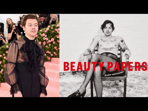Harry Styles Dazzles In Fishnet Stockings And Gucci Lipstick For New Magazine Photoshoot | MEAWW