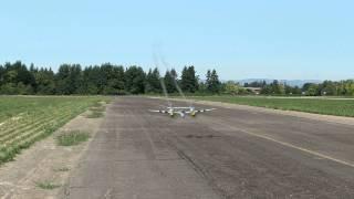 RealFlight 7 P-38 crash turns into a glider!