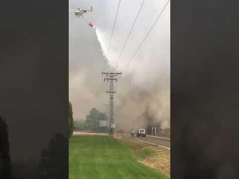 Incendio en Entrepinos en Valladolid
