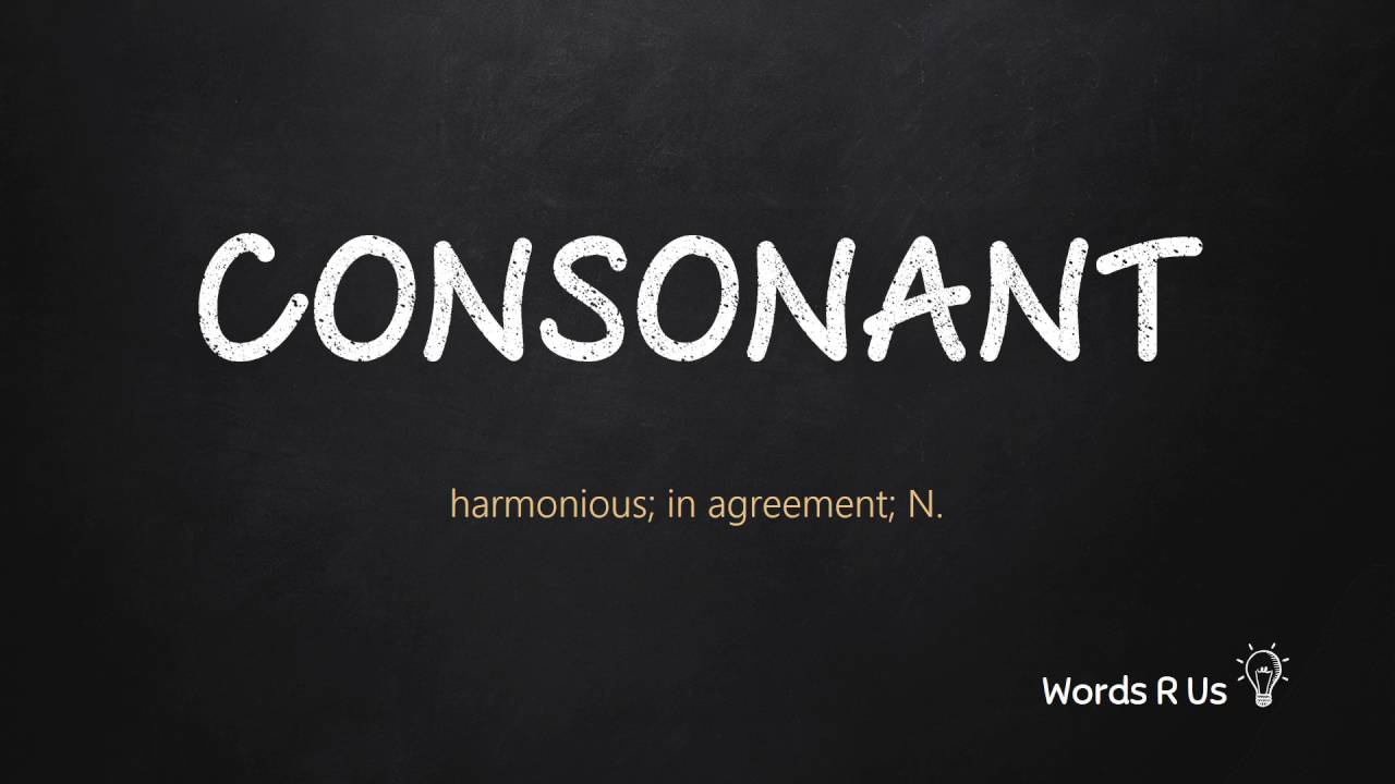 How to Pronounce CONSONANT in American English