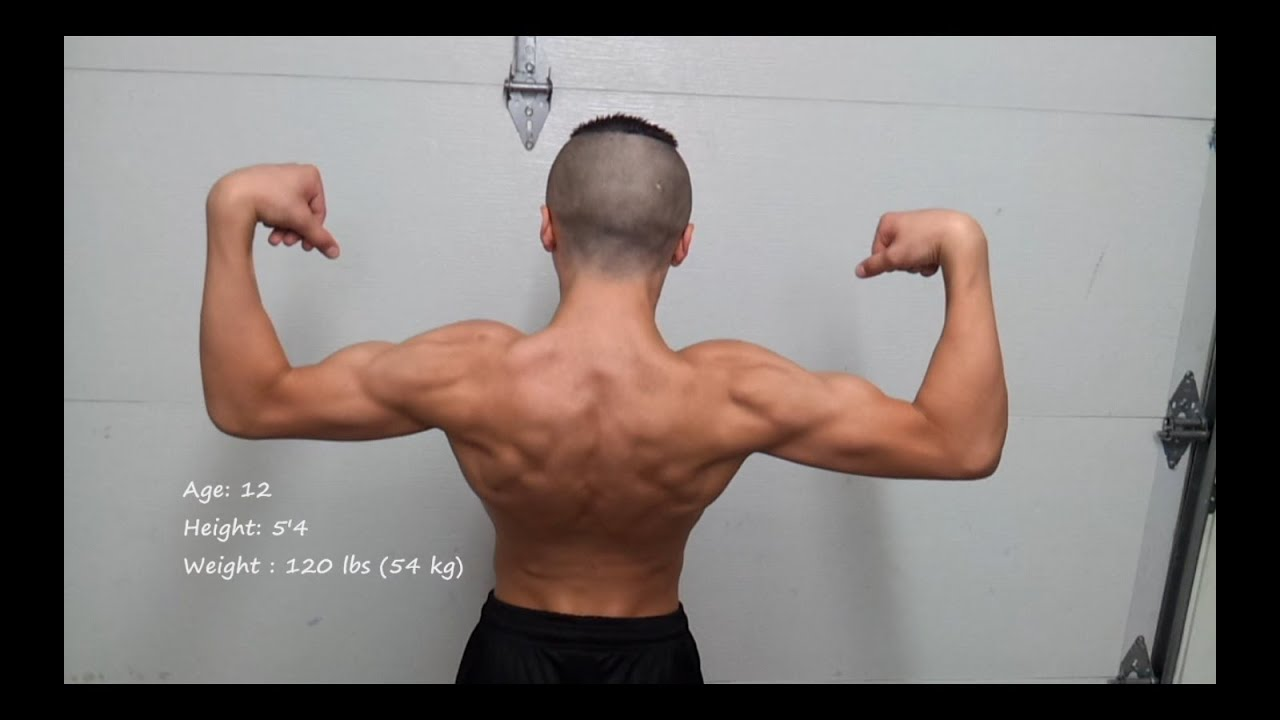 physique Update,14 year old flexing - YouTube