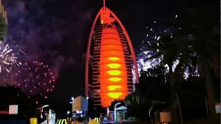 HAPPY NEW YEAR! 2020 NEW YEAR'S EVE FIREWORKS SHOW / CELEBRATION IN DUBAI AT BURJ AL ARAB