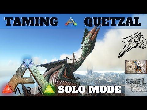 ARK Survival Evolved: Taming a Quetzal Single Player!