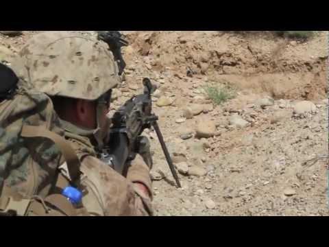 Weapons Co. 2/6 Marines on Foot Patrol (TREK-NAWA, Afghanistan)