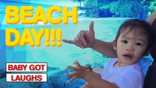 Funny Baby Beach Day   YOU WILL LAUGH HILARIOUS COMPILATION 2018