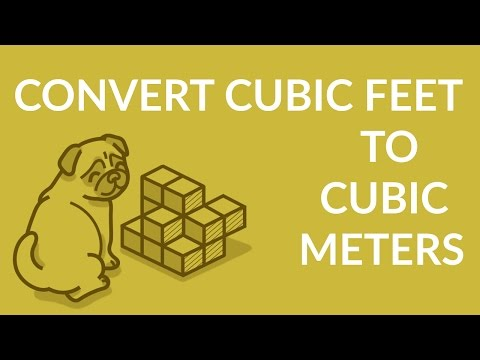 ʕ•ᴥ•ʔ Easily Convert Cubic Feet to Cubic Meters (ft^3 to cm^3)