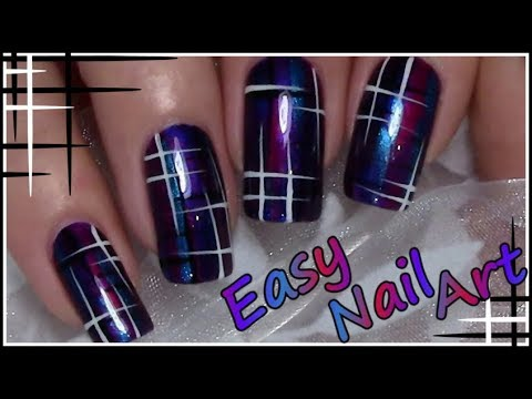Easy Stripe Nail Art Design Tutorial For Beginners thumbnail