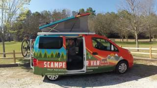 Opening the Top Pop- Recon Campers Nissan NV200/ Chevy City Express Camper Van