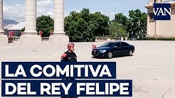 Llegada del Rey Felipe VI al Salón del Automóvil de Barcelona