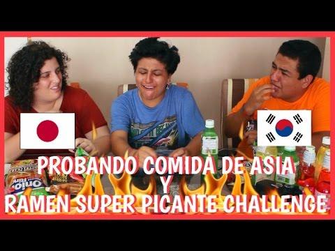 PROBANDO COMIDA DE ASIA Y RAMEN HIPER PICANTE CHALLENGE - Team Bolo