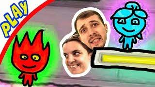 БолтушкА и ПРоХоДиМеЦ Попали в Ледяной ХРАМ Огня и Воды! #232 Игра для Детей - Огонь и Вода 3