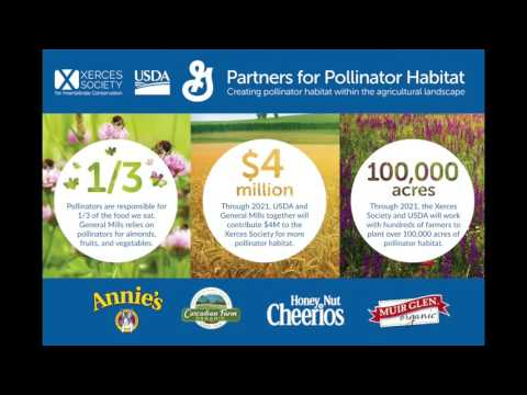 Announcement of NRCS' New Partnership with General Mills and Xerces to Benefit Pollinators