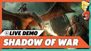 Shadow of War - 30 Minutes of Fortress Assault Live Demo Gameplay - E3 2017