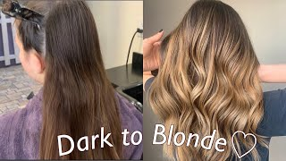 Hand Painted Balayage Ombre! Technique ( Dark to Blonde )Tutorial