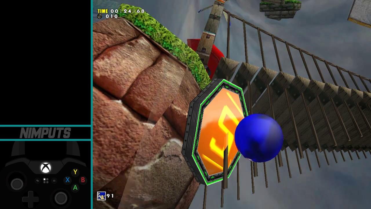 Sonic Adventure DX (PC) - Windy Valley Sonic speedrun in 1:07 46