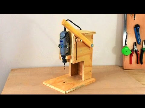 Making A Mini Drill Press - Router Table -Spindle Sander (All In One) Çok Fonksiyonlu Dremel Tezgahı