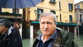 Acqua alta a Venezia, il sindaco Brugnaro: