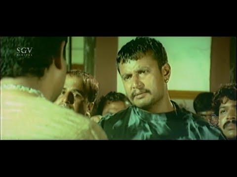 Darshan Punching Dialogue To Rowdy Shobharaj | Challenging Star Darshan Best Scene Suntaragali Movie