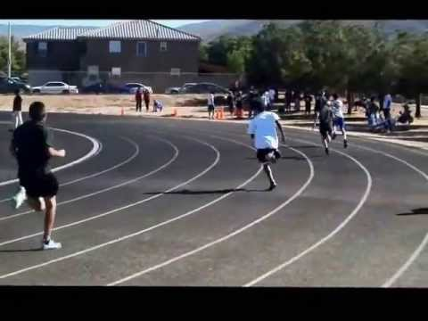 "PIUTE track meet at "" Joe Walker Middle School "" K'saun 2nd Place"