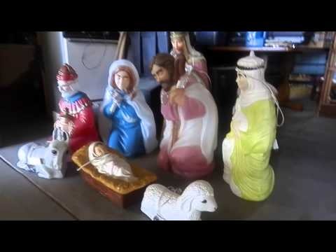 9pc Lighted Christmas Complete Nativity Set. Review