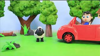 Black sheep car Play Doh Stop motion cartoons