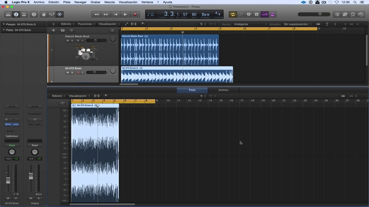 how to show time in logic pro x