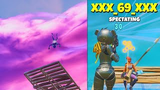 i backflipped from MAX HEIGHT and spectated random players in fortnite... (he's good)