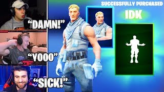 STREAMERS Reacts TO *NEW* 'IDK' Emote & Frozen DEFAULT Skin Showcase! (Fortnite Moments)