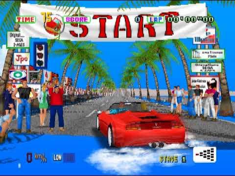 Emulação - Sega Ages - Outrun in-game no HPS2x64 v0232 (emulador de PS1 e PS2)