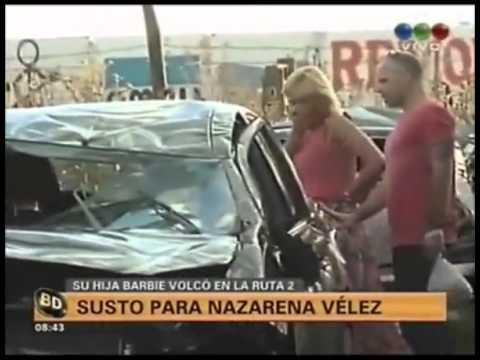 Las imágenes del reencuentro de Nazazarena Vélez y su hija Barbie después del accidente