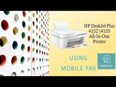 HP Deskjet Plus 4140 |4152 |4155 |4158 printer : Using the Mobile Fax