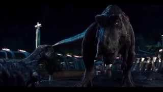 Jurassic World T rex vs I rex [T rex roars resounded a little]