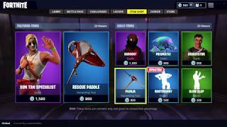 MALE LIFEGUARD SKIN, SLOW CLAP AND HOOTENANNY EMOTE IN FORTNITE ITEM SHOP