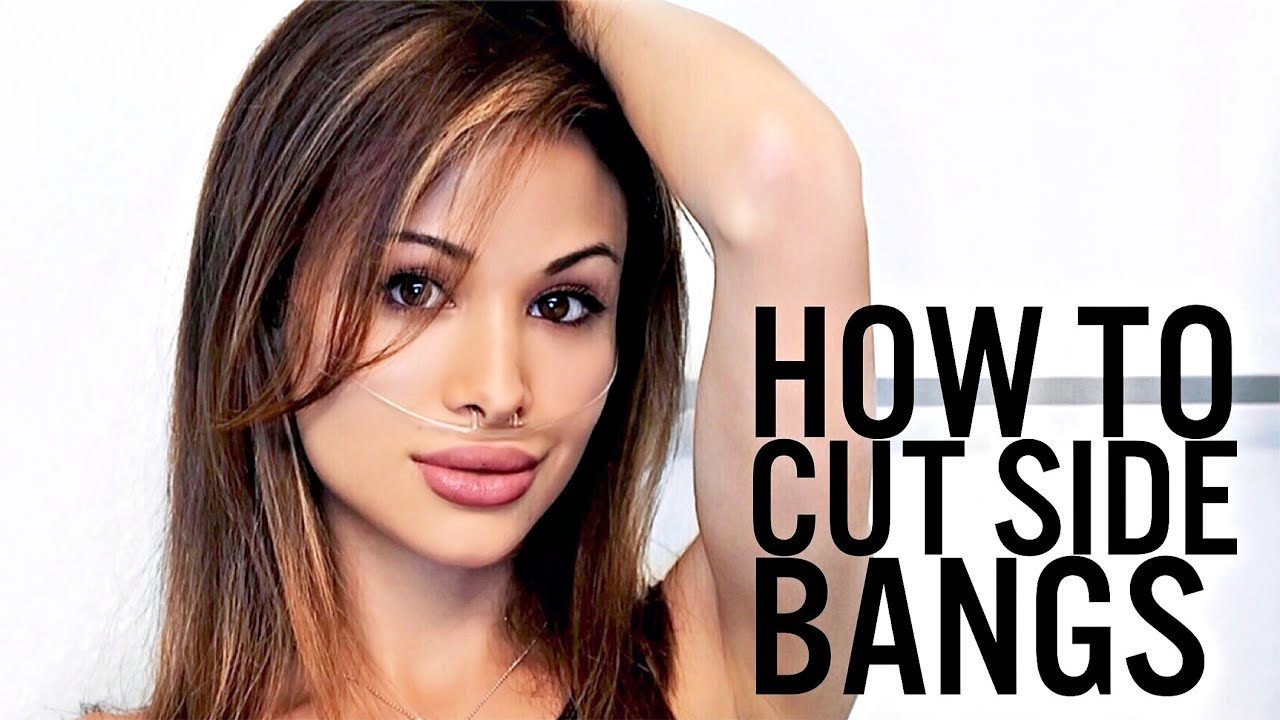 how to cut side bangs in less than 1 minute diy youtube