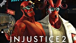 Injustice 2 Online - AWESOME HELLBOY COMBOS!