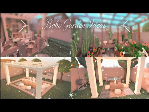 Bloxburg Speed Build Boho Garden Backyard Ideas Advance Placement Youtube