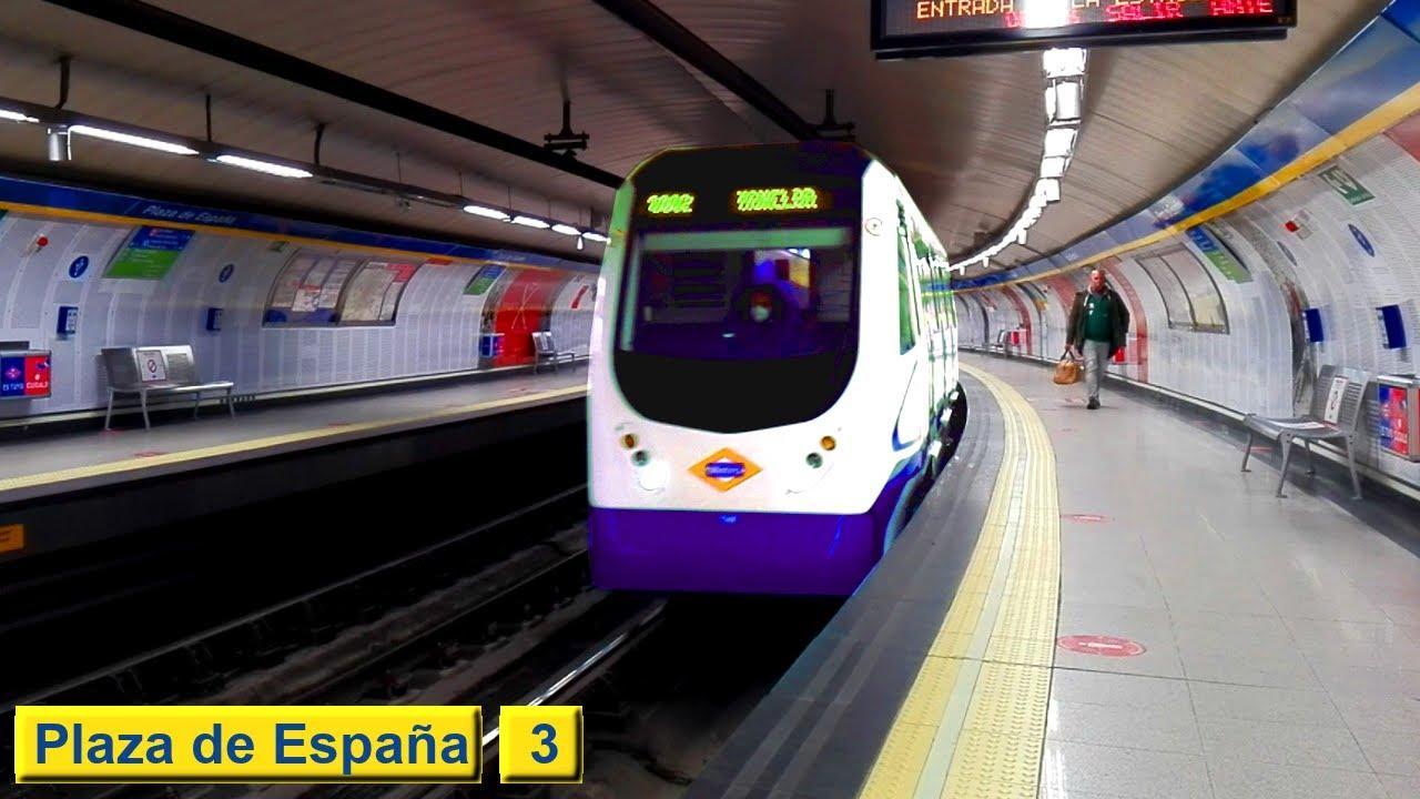 Plaza de España L3 : Metro de Madrid ( Serie 3000 )