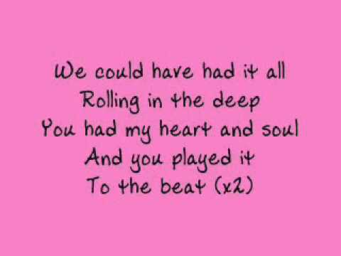 Adele - Rolling in the Deep - lyrics MP3 Free Download