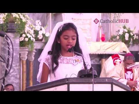 FIRST HOLY COMMUNION At St. Joseph's Cathedral Church Gunfoundry,HYD,TG,INDIA,20-11-14.HD Part 1