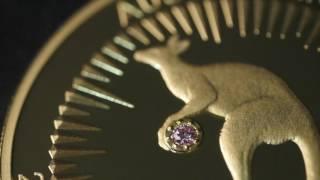 Rare pink diamonds grace classic Kangaroo gold coins