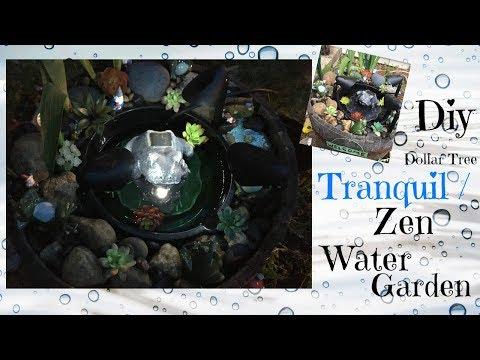 DOLLAR TREE DIY | TRANQUIL/ZEN WATER GARDEN