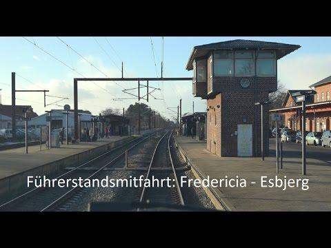 Führerstandsmitfahrt Dänemark: Fredericia - Esbjerg  Januar 2017