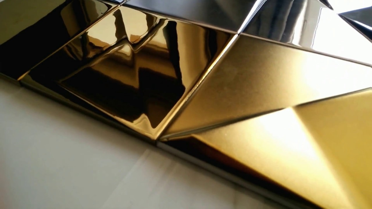 Złotesrebrnebiałeczarne Płytki Dekoracyjne 15x15
